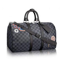 Louis Vuitton Keepall 45 Bandouliere N41057 Damier Graphite Stickers