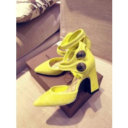Louis Vuttion Royal Yellow Suede Pump  (GD3012-032717 )