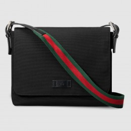 Gucci Black Techno Canvas Messenger Bag