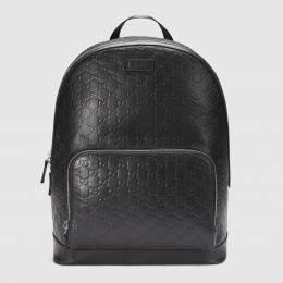 Gucci Black Signature Leather Backpack