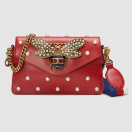 Gucci Red Broadway Mini Leather Bag
