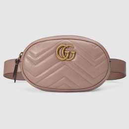 Gucci GG Marmont Belt Bag In Dusty Matelasse Leather