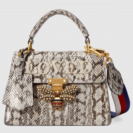 Gucci Snakeskin Queen Margaret Small Top Handle Bag
