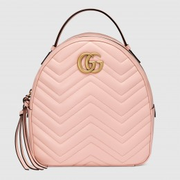Gucci GG Marmont Pink Leather Backpack