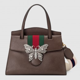 Gucci Cafe GucciTotem Medium Top Handle Bag