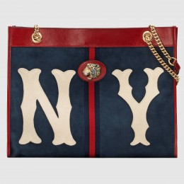 Gucci Rajah Large Tote With NY Yankees? Patch