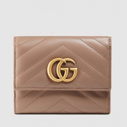 Gucci Nude GG Marmont Matelasse Wallet