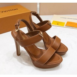 Louis Vuitton New Wave Heel Sandals Brown 2019 (KER-9022531 )