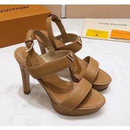 Louis Vuitton New Wave Heel Sandals Dark Beige  2019 (KER-9022532 )