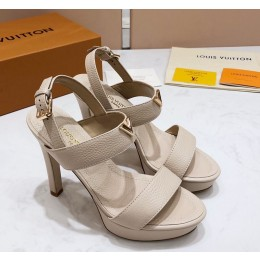 Louis Vuitton New Wave Heel Sandals White 2019 (KER-9022530 )