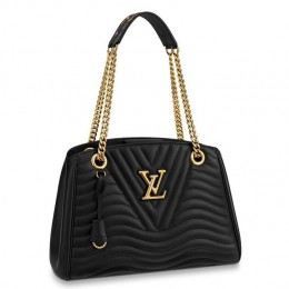 Louis Vuitton Black New Wave Chain Tote M51496