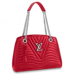 Louis Vuitton Red New Wave Chain Tote M51497