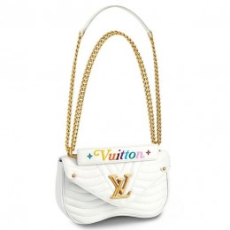 Louis Vuitton White New Wave Chain Bag MM M51945