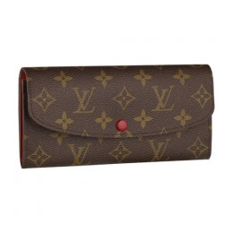 Louis Vuitton M60136 Emilie Wallet Monogram Canvas