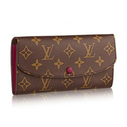 Louis Vuitton M60697 Emilie Wallet Monogram Canvas