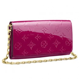 Louis Vuitton M90087 Chain Wallet Monogram Vernis