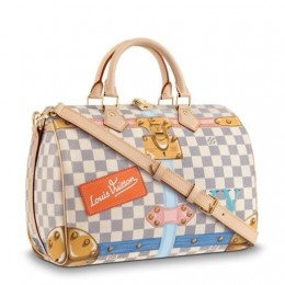 Louis Vuitton Speedy 30 Summer Trunks Damier Azur N41063