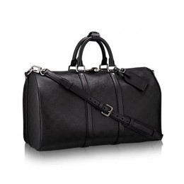 Louis Vuitton N41145 Keepall Bandouliere 45 Duffel Bag Damier Infini Leather