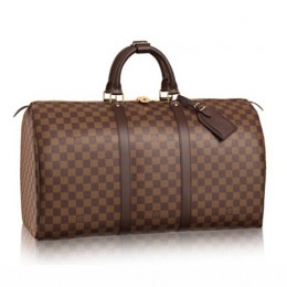 Louis Vuitton N41427 Keepall 50 Duffel Bag Damier Ebene Canvas