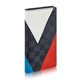Louis Vuitton N41593 Brazza Wallet Regatta Damier Cobalt Canvas