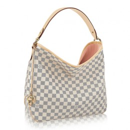 Louis Vuitton N41607 Delightful MM Hobo Bag Damier Azur Canvas