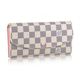 Louis Vuitton N41625 Emilie Wallet Damier Azur Canvas
