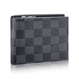 Louis Vuitton N41635 Amerigo Wallet Damier Graphite Canvas