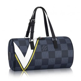 Louis Vuitton N44013 Sac Polochon Duffel Bag Damier Cobalt Canvas