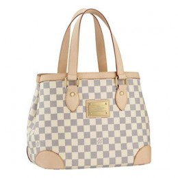 Louis Vuitton N51207 Hampstead PM Shoulder Bag Damier Azur Canvas