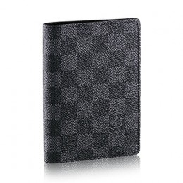 Louis Vuitton N60031 Passport Cover Damier Graphite Canvas