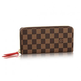 Louis Vuitton N60534 Clemence Wallet Damier Ebene Canvas