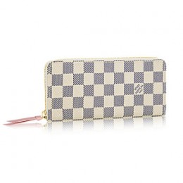 Louis Vuitton N61264 Clemence Wallet Damier Azur Canvas
