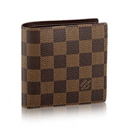 Louis Vuitton N61675 Marco Wallet Damier Ebene Canvas