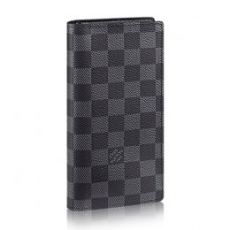 Louis Vuitton N62227 Brazza Wallet Damier Graphite Canvas