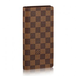 Louis Vuitton N62228 Brazza Wallet Damier Ebene Canvas