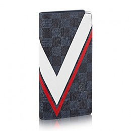 Louis Vuitton N64003 Brazza Wallet Damier Cobalt Canvas