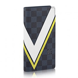Louis Vuitton N64004 Brazza Wallet Damier Cobalt Canvas