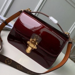 Louis Vuitton Cherrywood BB in Monogarm Canvas and Burgundy Patent Leather M51953 2019 (KD-9050842 )